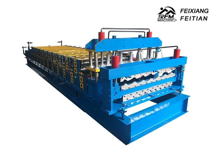Steel Plate Glazed Roofing Sheet Roll Forming Machine 1000mm Feeding Width